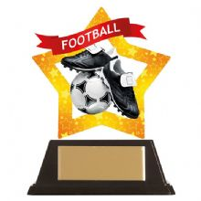 Football Mini-Star Acrylic Award